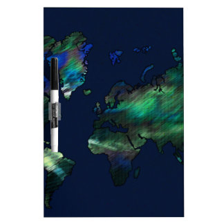 The World in Blues Dry-Erase Board