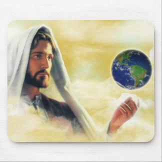 The world in his hand mouse pad