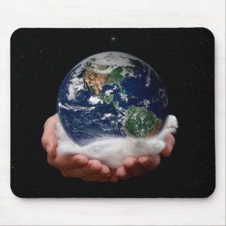 The world in your Hands Mouse Pad