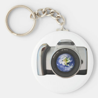 The World in Your Viewfinder Basic Round Button Keychain
