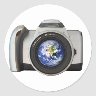 The World in Your Viewfinder Classic Round Sticker
