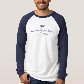 The World is 70% Water - with waving burgee T-Shirt
