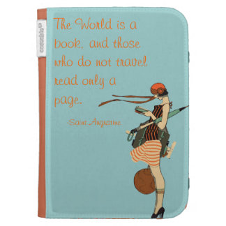 The World is a book Kindle Keyboard Covers
