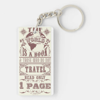 The World is a Book Key Chains