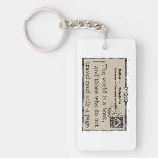 The World is a Book Keychain