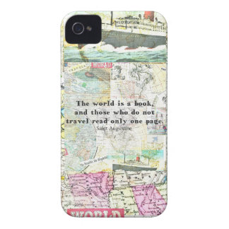 The world is a book TRAVEL QUOTE iPhone 4 Case