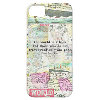 The world is a book TRAVEL QUOTE iPhone SE/5/5s Case