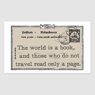 """The World is a Book"" Vintage Stickers"