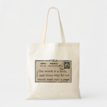 """""""The World is a Book"""" Vintage Travel Tote"""