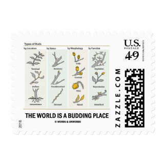 The World Is A Budding Place (Types Of Buds) Postage