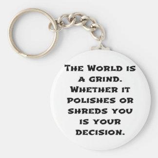 The World Is A Grind Basic Round Button Keychain