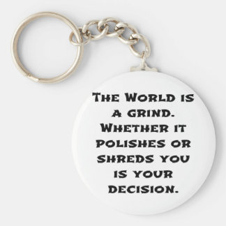 The World Is A Grind Keychain