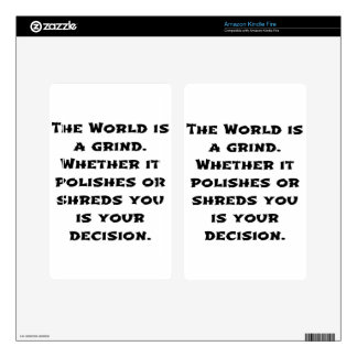 The World Is A Grind Kindle Fire Skins