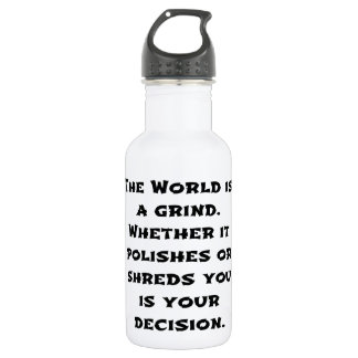 The World Is A Grind 18oz Water Bottle