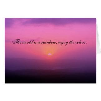 The World is a Rainbow, Enjoy the Colors Card