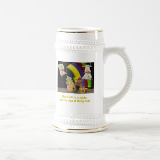 The world is a stage beer stein
