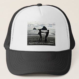The world is but a canvas to our imagination. trucker hat