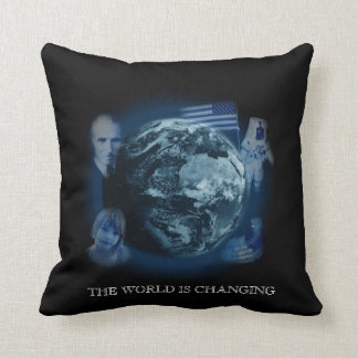 The World Is Changing Pillow Black