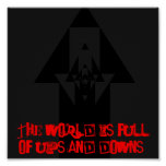The World is full of ups and downs poster
