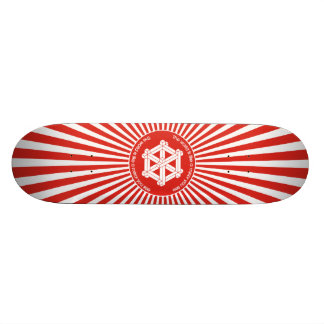 """The world is like a mirror you see"" Skateboard Deck"