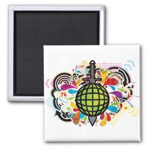THE_WORLD_IS_MINE 2 INCH SQUARE MAGNET