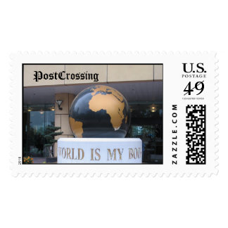 """""""The World is My Book"""" PostCrossing Stamp"""