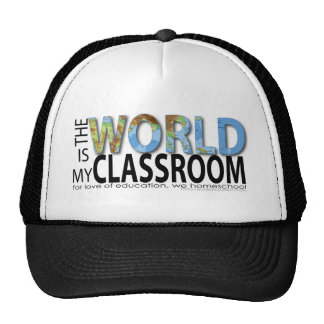 The World is My Classroom Mesh Hats