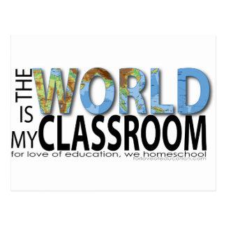 The World is My Classroom Postcard