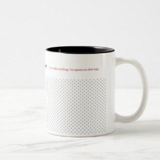 The World is My Craft Room Two-Tone Coffee Mug