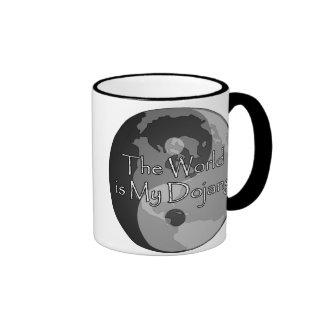 The World Is My Dojang Ringer Coffee Mug