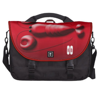 The World is My Lobster with Heart-Shaped Pincers Laptop Bag