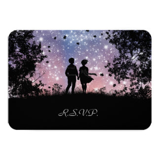 """The World Is Ours - Borealis Version - RSVP Card 3.5"""" X 5"""" Invitation Card"""