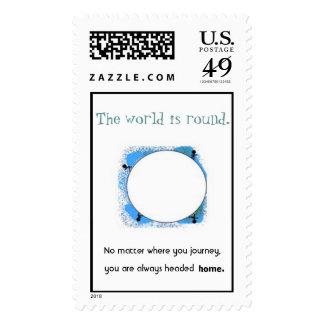 The World Is Round Postage