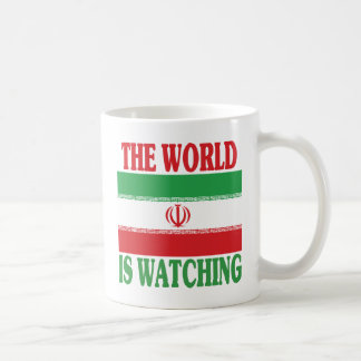 The World Is Watching Iran Coffee Mug