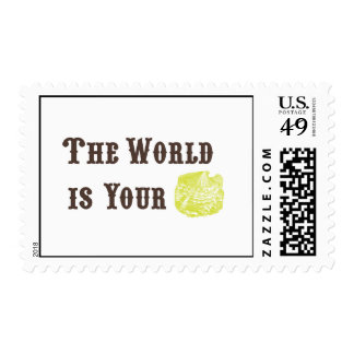 The World is Your Oyster Postage