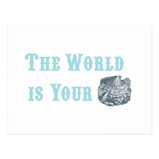 The World is Your Oyster Postcard