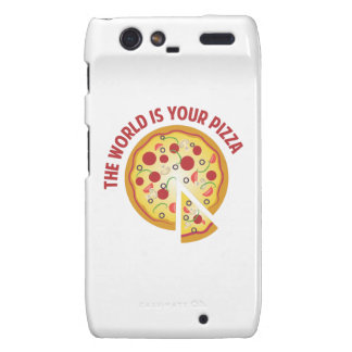The World Is Your Pizza Motorola Droid RAZR Covers