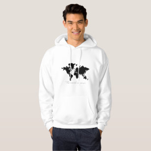 World map hoodies zazzle the world is yours map hoodie gumiabroncs Images