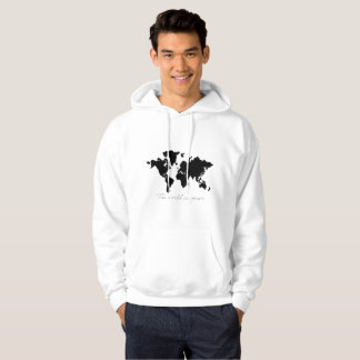 Mens world map hoodies zazzle the world is yours map hoodie gumiabroncs Choice Image