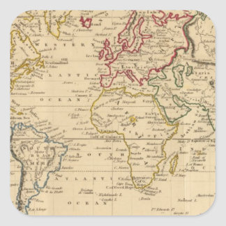 The World, Mercator's Projection Square Sticker
