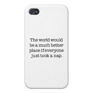 The World Needs A Nap iPhone 4/4S Case