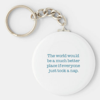 The World Needs A Nap Keychains
