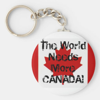 The World Needs More CANADA! keychain