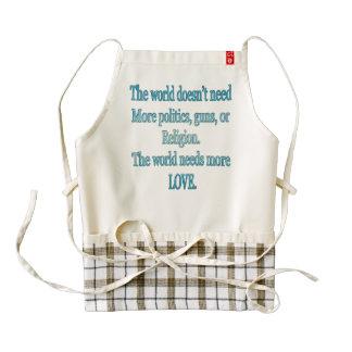 The world needs more love zazzle HEART apron