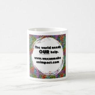 The World Needs Our Help. Classic White Coffee Mug