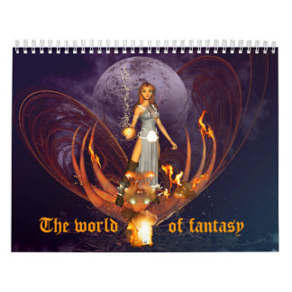 The world of fantasy wall calendar