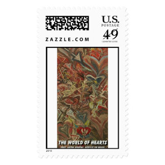 the world of hearts  stamps