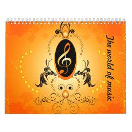 The world of music calendar