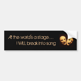 The world of musical theater car bumper sticker