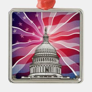 The World of Politics Metal Ornament